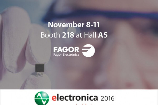 Fagor Electrónica will attend Electronica 2016